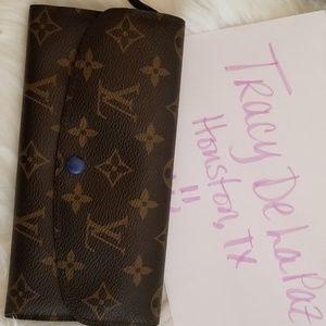 Louis Vuitton Josephine wallet in blue